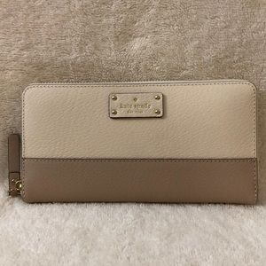 Kate Spade large zip around wallet